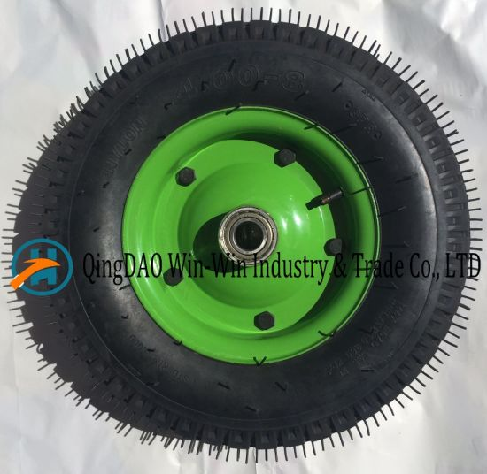 Pneumatic Rubber Wheel for Trolley (4.00-8/400-8)