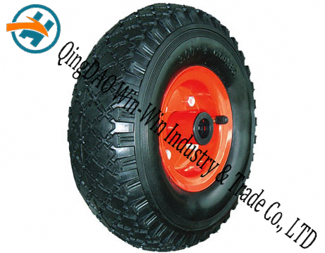 "Pneumatic Rubber Wheel for Platform Trucks Wheel (10""X3.00-4)"