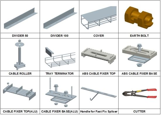 Wire Mesh Cable Tray Accessories