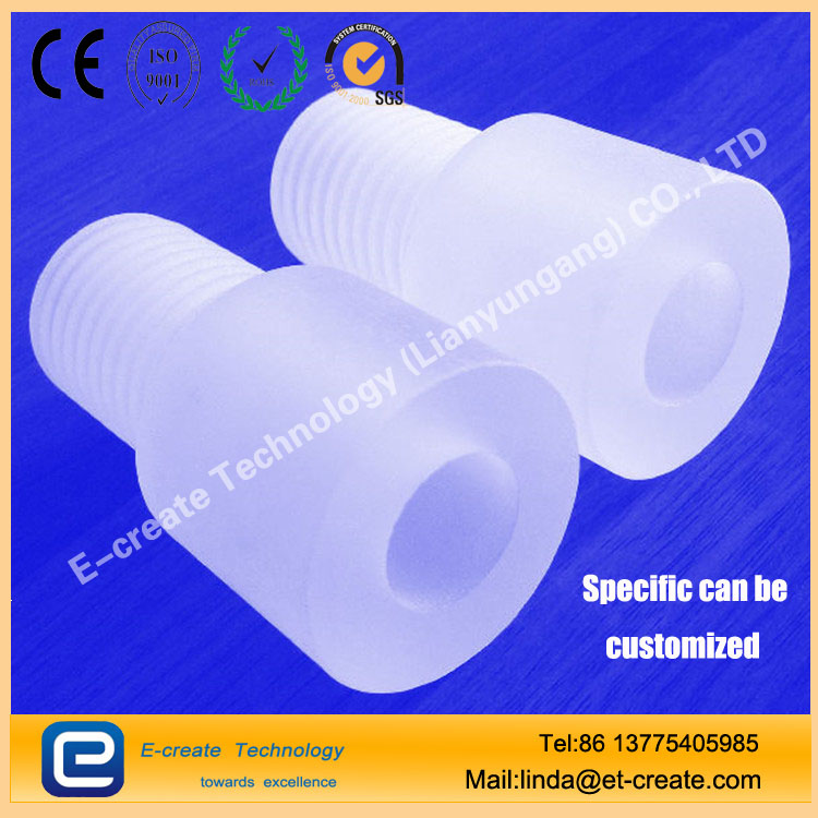 Quartz glass tube thread processing, quartz tube internal and external thread customization, thick wall quartz tube thread pipe