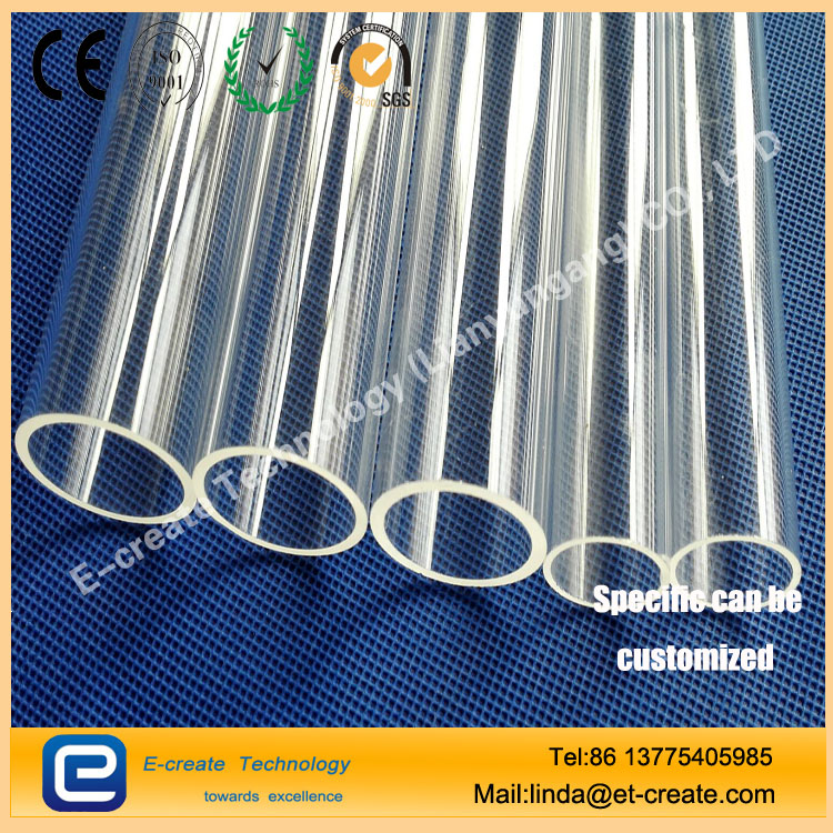 Uv lamp water treatment quartz sheath tube (one end of the round, flat, double-pass)