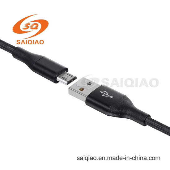 Mirco USB2.0 Braided Charging Data Cable with Appearance Patent
