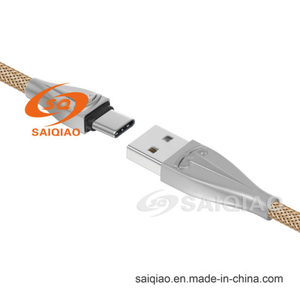 Zinc Alloy Type-C2.0 Nylon Braided Charging Data Cable for Samsung