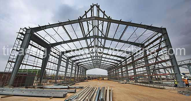 Low Cost Heavy Steel Structure Supermarket/Large Temporary Office for Egypt