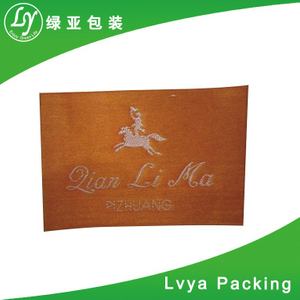 2017 New Design China Factory Custom Clothing Damask Woven Label from Alibaba