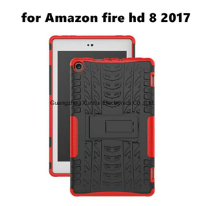 Shockproof Stylish PC+TPU Protective Back Cover Case for Amazon Fire HD 8 2017