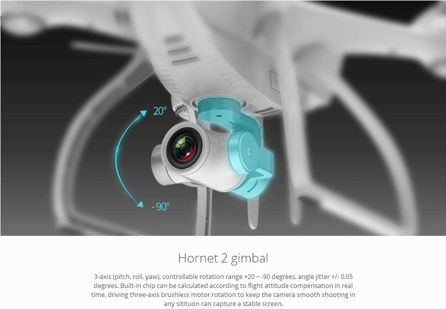 Follow Me Mode Jyu Hornet 2 Drone with 4k Camera Gimbal Wristwatch Control Optional