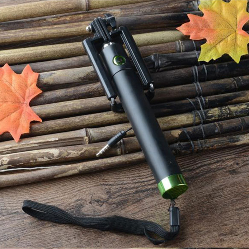 Universal Foldable Extendable Adjustalble Portable Pocket Monopod Blue Tooth Selfie Stick for Smartphone