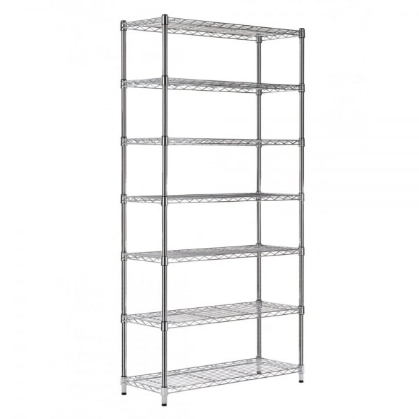 14 inch deep 7 tiers shelf heavy duty metal Wire Shelf