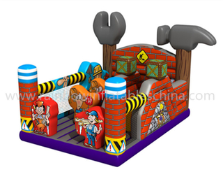 new design small inflatable machine theme bounce playground