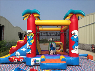 Inflatable The Smurfs Bouncer for Commercial Use