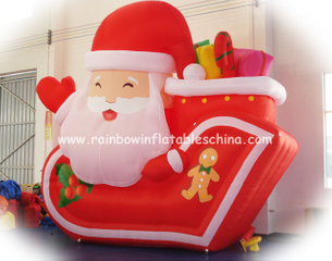 RB20015(2x1.5m)Inflatable Rainbow santa claus