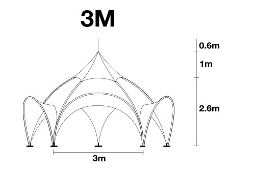 3m arch tent