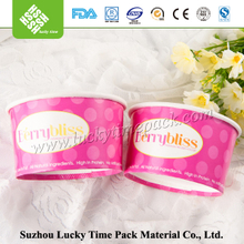 Disposiable bulk paper ice cream bowl for frozen food packing