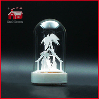 Wholesale Glass Dome LED Glass Decoration Glass Bell Dome Transparent Decoration