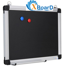 XBoard Wall-Mounted 15 x 12 Inch Magnetic Small Black Chalkboard Message Scoreboard with 2 Hanging Hooks, Pent Tray and 2 Magnets, Blackboard for Home & School