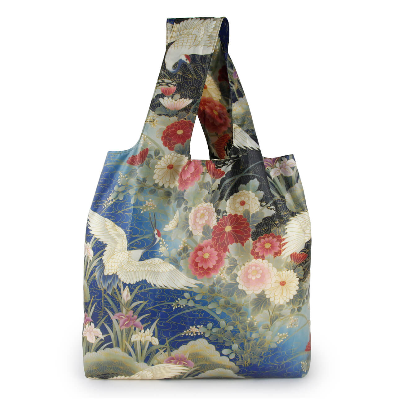 Foldable nylon tote bag