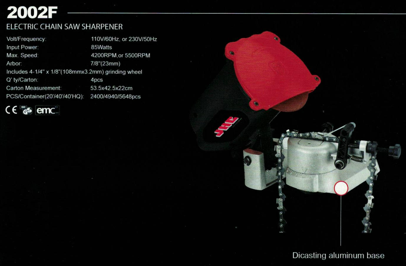 ELECTRICAL CHAIN SAW SHARPENER 2002F