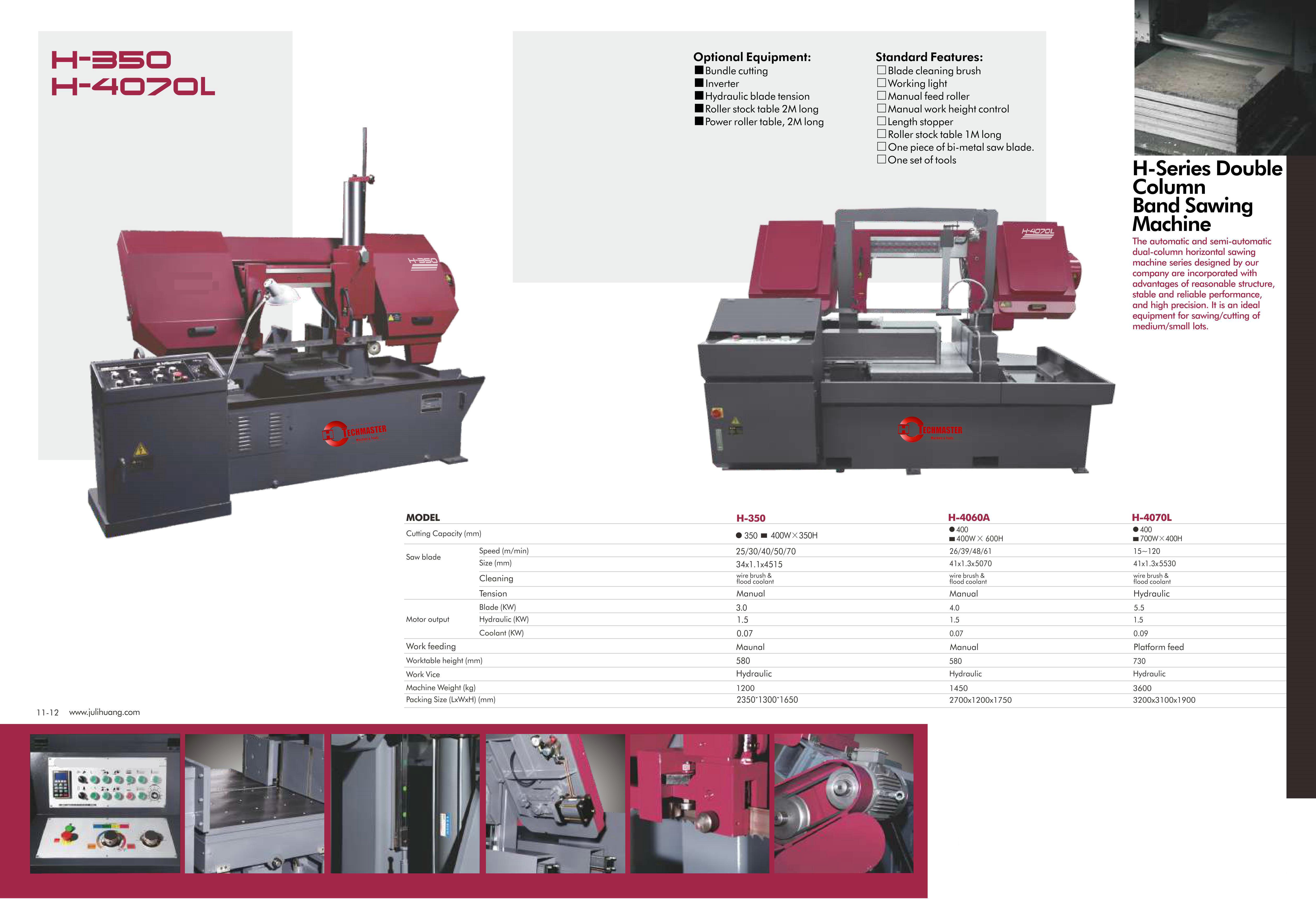 METAL BAND SAW MACHINE S-350/H-4060A/H-4070L