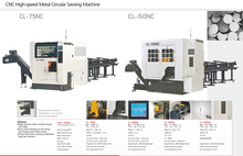 CNC HIGH SPEED CIRCULAR SAWING MACHINE CL-75NC-CL150NC