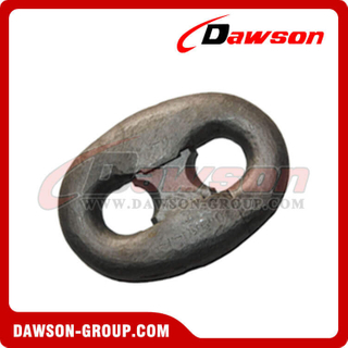 Link de conexão pintado preto Kenter Shackle for Oil Platform Mooring Chain