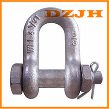 Bolt with nut and cotter chain shackles