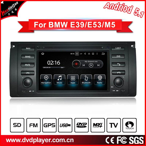 Android 5.1 CAR DVD GPS For BMW 5 E39 M5 radio navigation android phone connections