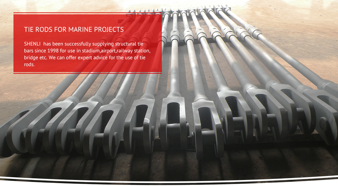 Tie Rods For Marine Projects