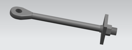 Upset forged eye tie rod