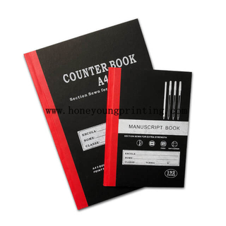 A4 A5 Sewing binding hard cover counter book manuscript book
