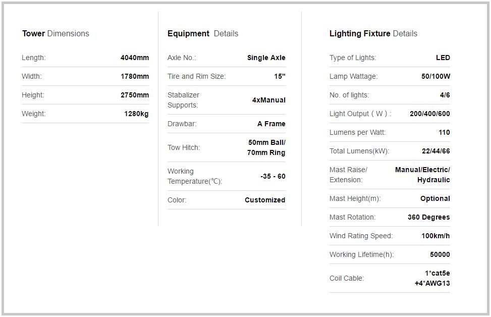 Solar Light Tower VTS900A-L