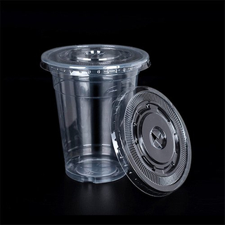 Disposable Plastic Flat Lid