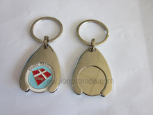 Metal Keychain with Supermarket Shopping Cart Token