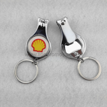 Shell Logo Oil Gift Stainless Steel Nail Cliper with Bottle Opener