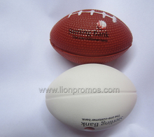 Custom Logo Promotional Gift Office Staff Rugby Ball PU Stress Reliever Ball