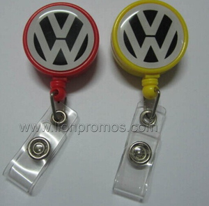 Car Logo Plastic Retraceable Badge Reel