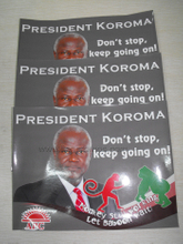 Nigerial Election Campaign Promotionl Poster Sticker