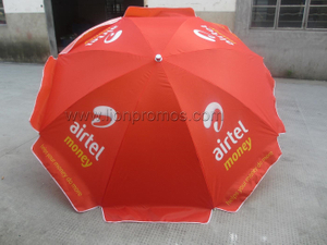 Airtel Logo oxford 210D Windproof Vendor Parasol