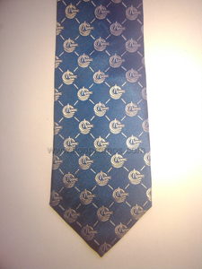 China National Offshore Oil Corporation Logo jacquard Pury Silk Neck Tie