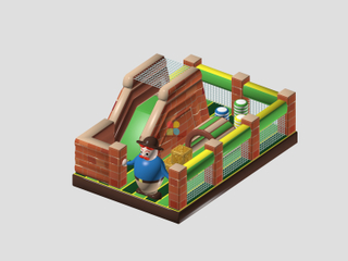 Inflatable Farm Yard Theme Bouncer Houses