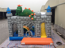 RB2012(5x5x4m)Inflatable Rainbow hot sale dinosaur bounce house