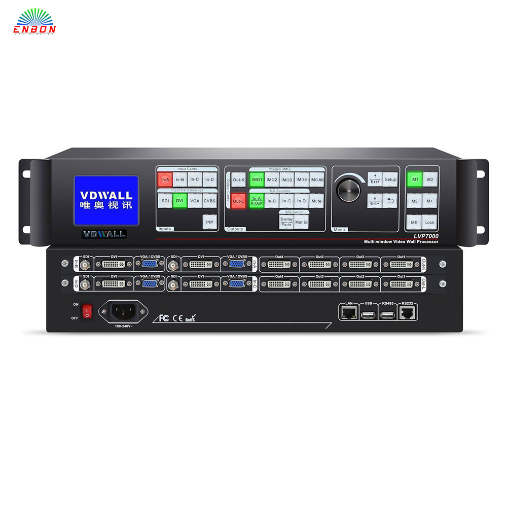 VDWALL LVP7000 empalmador multi-ventana LED procesador de video