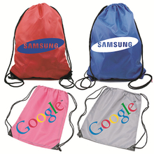Custom nylon backpack with print logo for promotion
