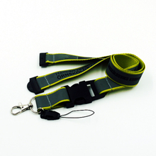 Custom reflective lanyards with print logo for id pouch