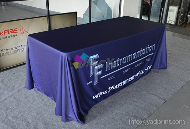 4ft 6ft 8ft (or custom size) Custom Print Trade Show Throw/Fitted/Spandex Table Cover