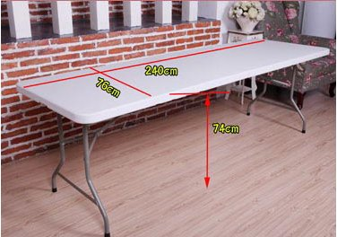 High Quality Folded Half 8FT Fair/Exhibition/Trade-Show Table for Sale