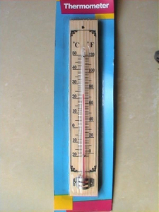 A006 Wooden Thermometer
