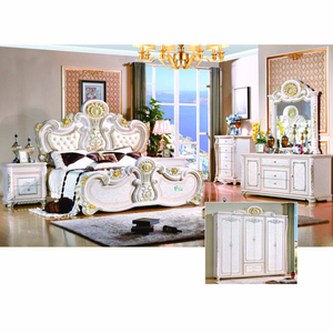 W801# Antique Bedroom Furniture with Antique Bed and Cabinet
