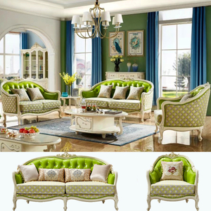 605 Living Room Fabric Sofa Set