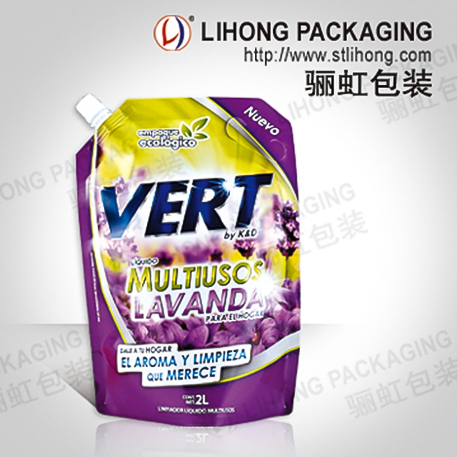 Plastic Spout Bag with Customized Logo for Laundry Liquid